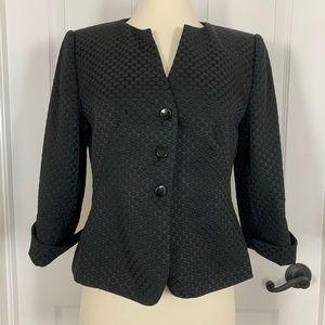 Armani Collezioni Black Jacquard Cropped Jacket